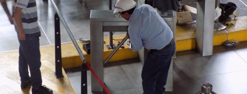 Instalación Torniquetes Cable Aéreo