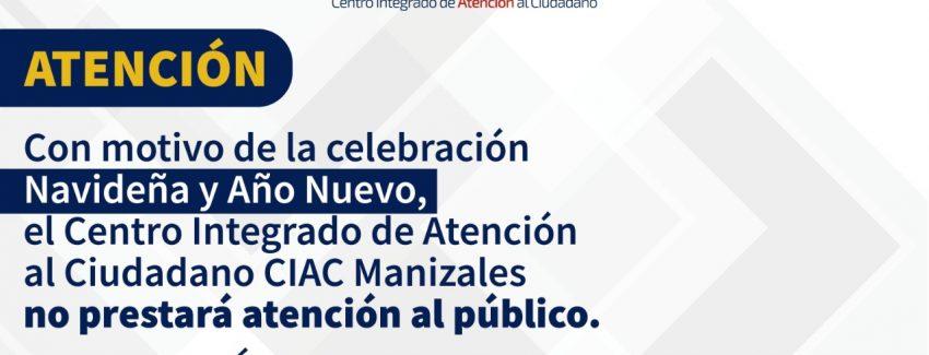 CIAC Manizales Dic 24 y 31
